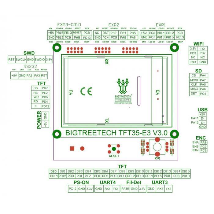 Дисплей BIGTREETECH TFT35 E3 v3.0
