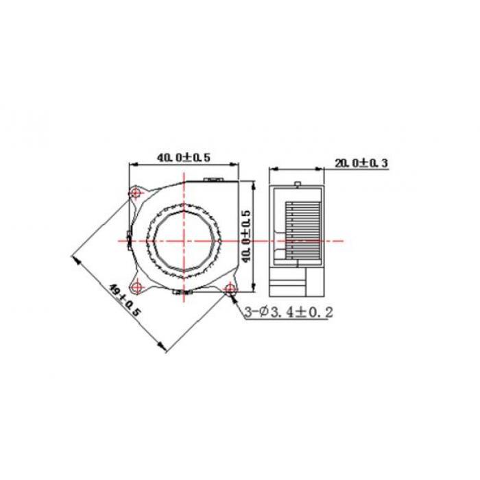 Вентилятор 4020 24V радиальный (улитка)