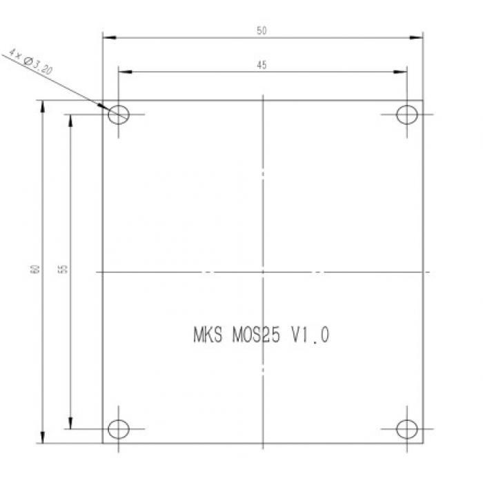 Модуль нагрева MKS MOS25 v1.0
