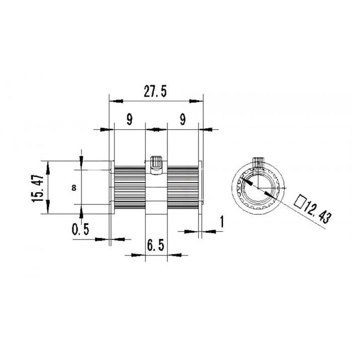 Шкив зубчатый двойной GT2 20 зубьев, 8мм / 5мм