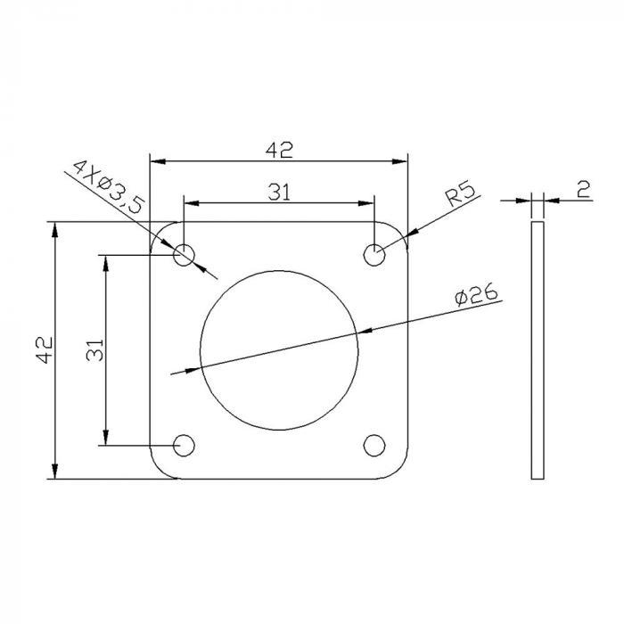 Демпфер силиконовый для шагового двигателя NEMA 17