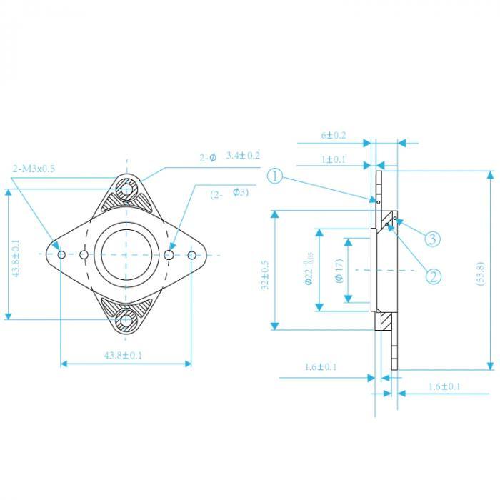 Демпфер для шагового двигателя NEMA 17