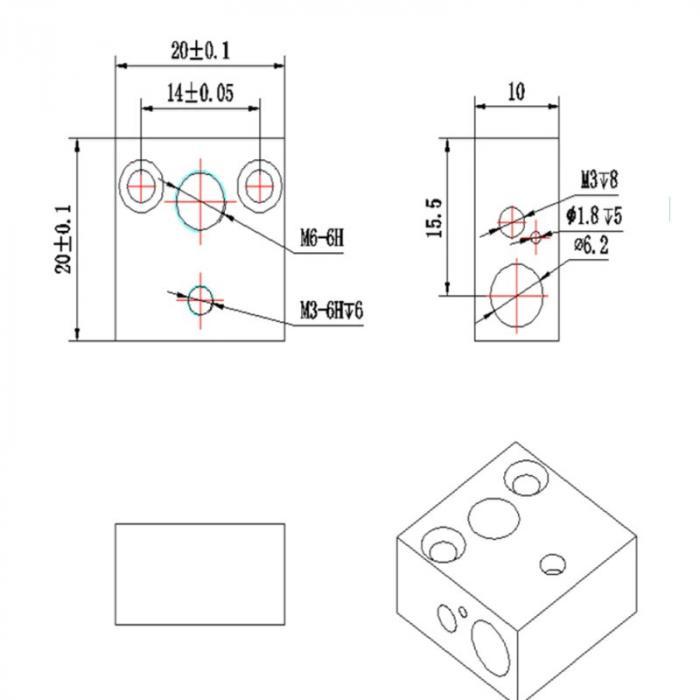 Нагревательный блок CR-10, Ender 3