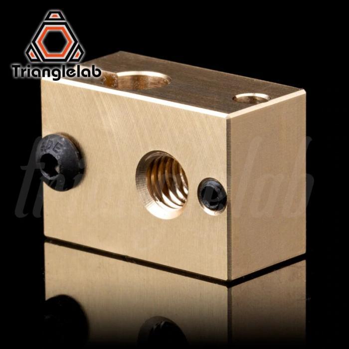 Нагревательный блок E3D V6 (латунь) от Trianglelab
