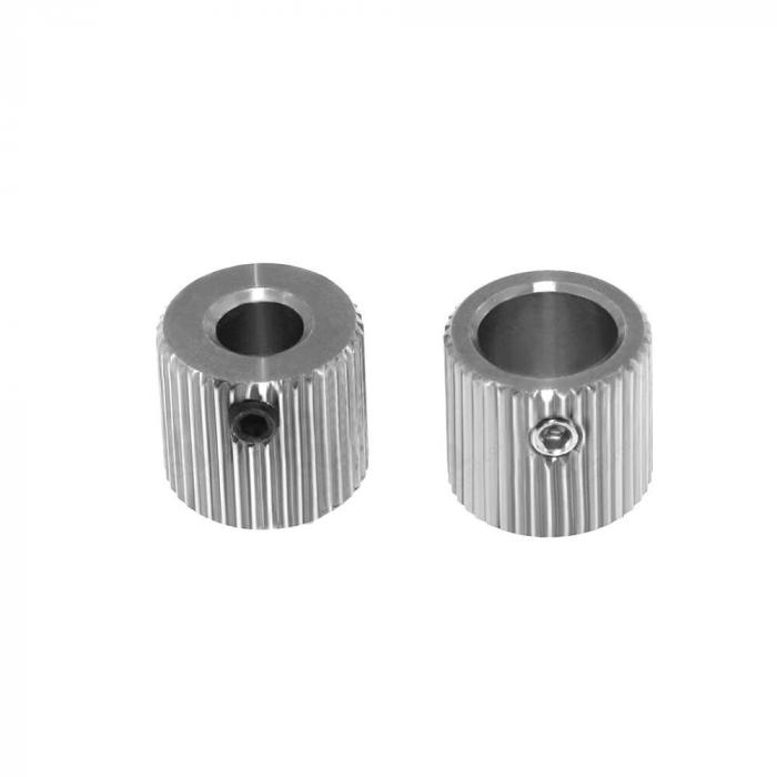 Шкив для протяжки филамента 40 зубьев, сталь