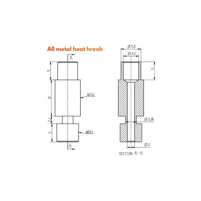 Термобарьер E3D V6 от Trianglelab