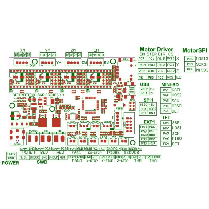Управляющая плата BIGTREETECH SKR E3 DIP V1.1