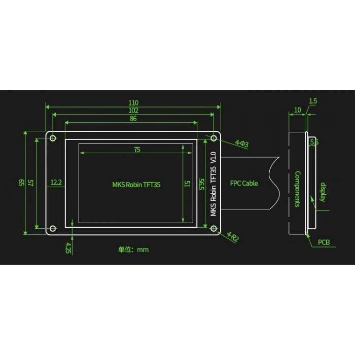 Управляющая плата MKS Robin Nano v1.2 с дисплеем TFT35 в комплекте