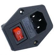 Разъем питания 3 Pin IEC320-C14 AC-08