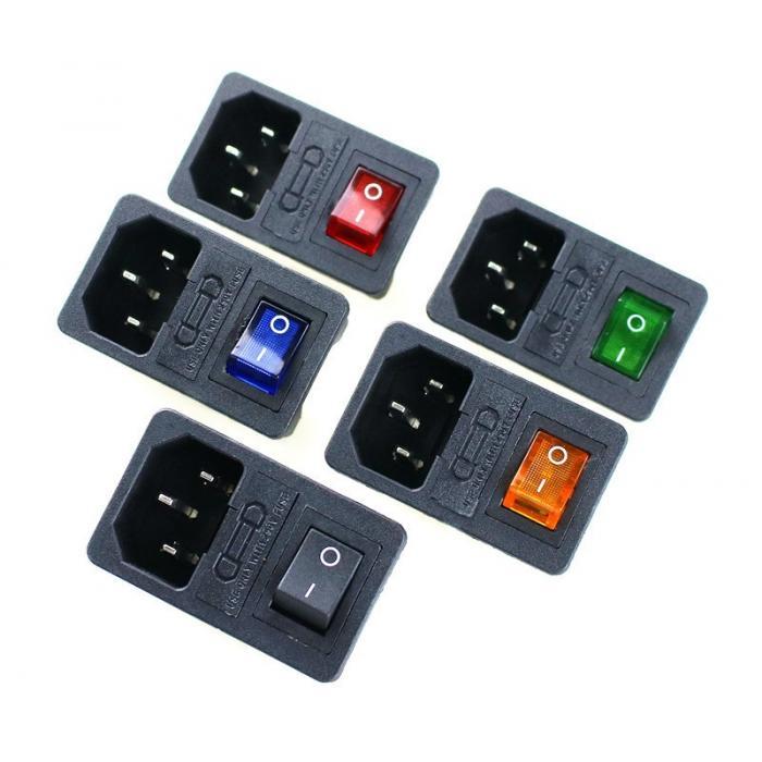 Разъем питания 3 Pin IEC320-C14 AC-01