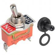 Кнопка тумблер с защитным колпачком E-Ten1021